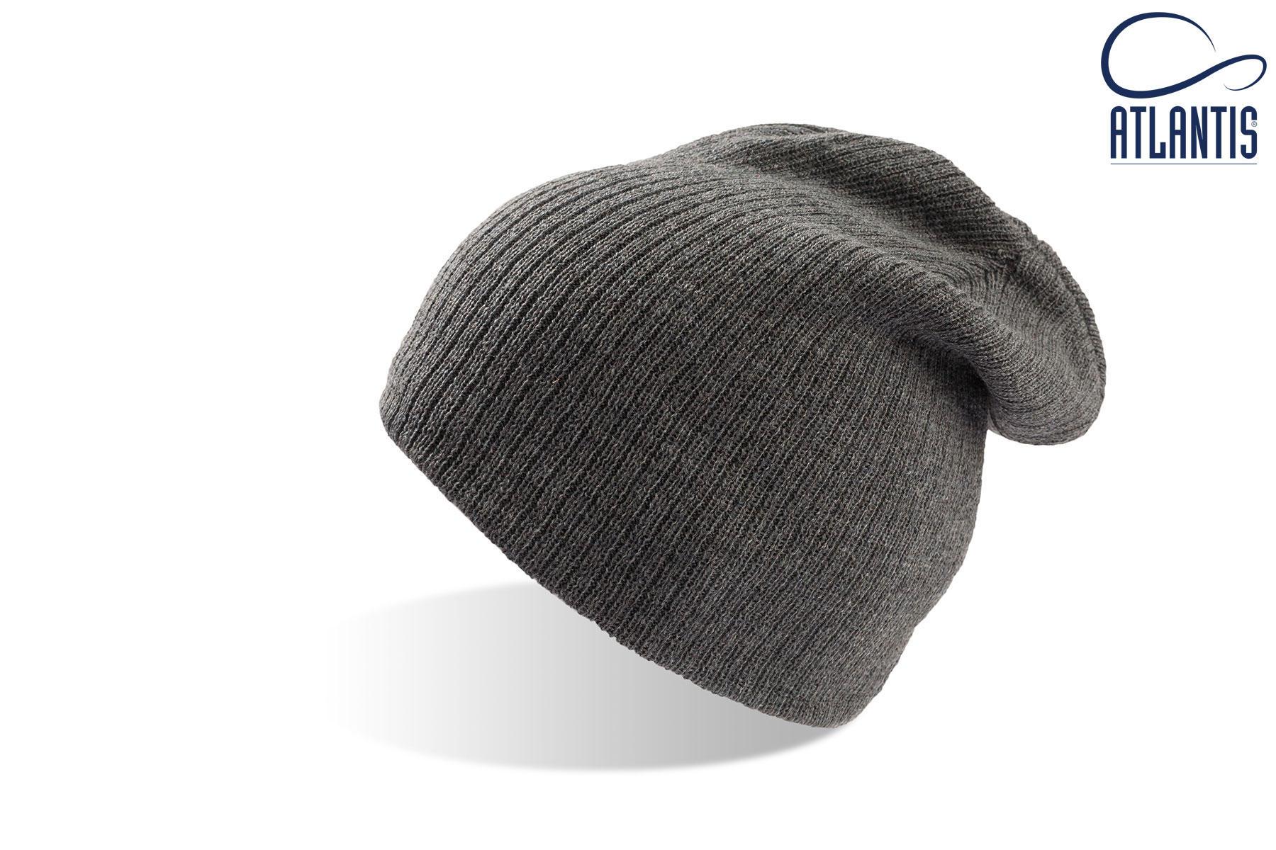 zimska kapa brad svetlo siva