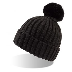 zimska kapa vitamin fur crna