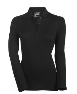 ženska polo majica dolg rokav črna