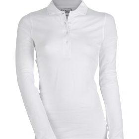 ženska polo majica dolg rokav bela
