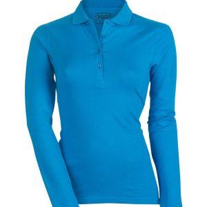 ženska polo majica dolg rokav modra