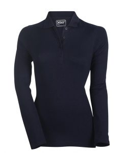 ženska polo majica dolg rokav mornarsko modra