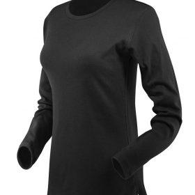 ženska t majica dolg rokav črna