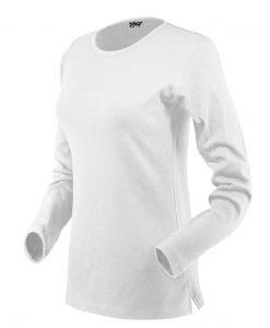 ženska t majica dolg rokav bela