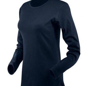 ženska t majica dolg rokav mornarsko modra