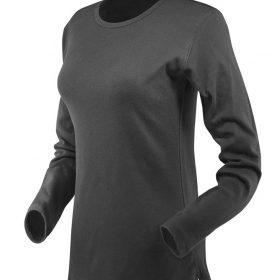 ženska t majica dolg rokav temno siva