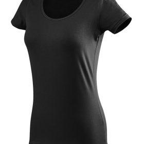 ženska oprijeta t majica kratek rokav črna