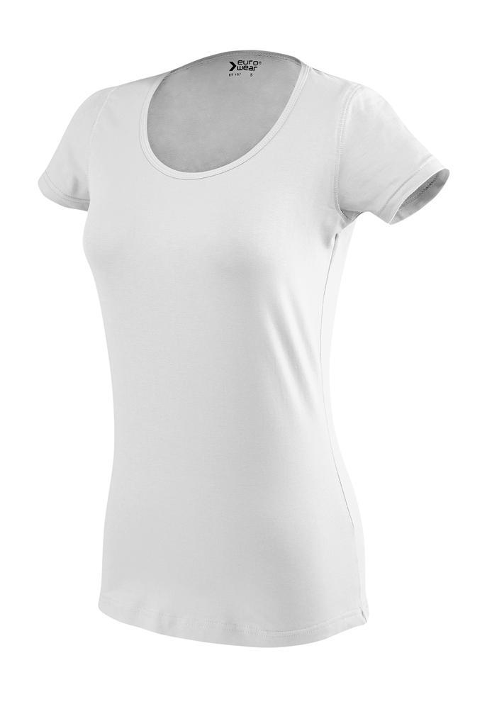 ženska oprijeta t majica kratek rokav bela