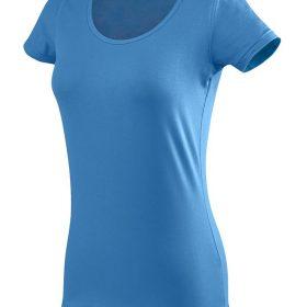 ženska oprijeta t majica kratek rokav modra