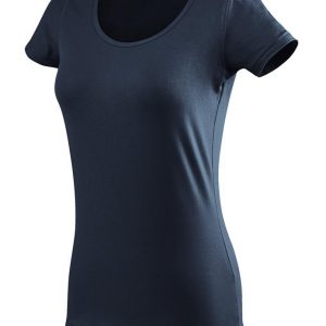 ženska oprijeta t majica kratek rokav mornarsko modra