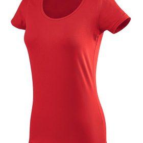 ženska oprijeta t majica kratek rokav rokav rdeča