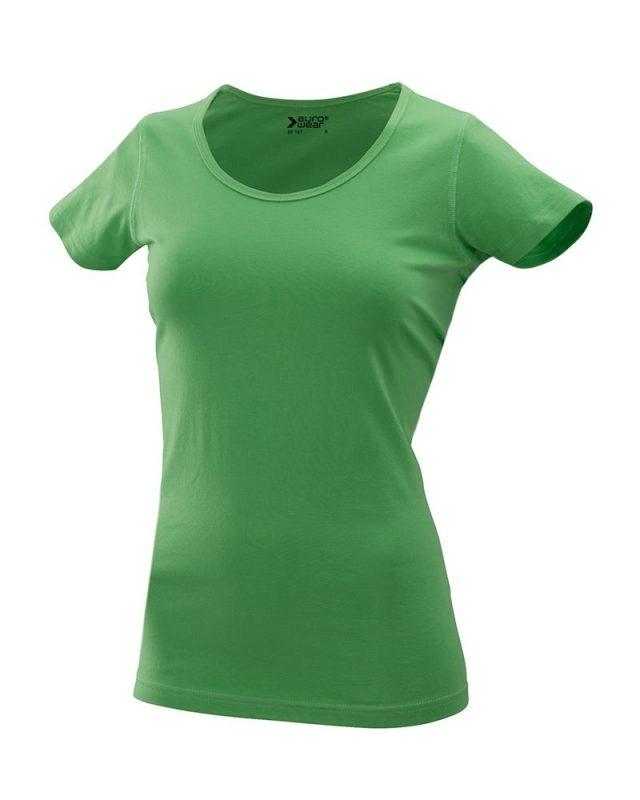 ženska oprijeta t majica kratek rokav zelena