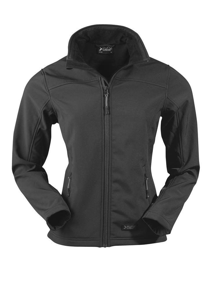 ženska soft shell jakna črna