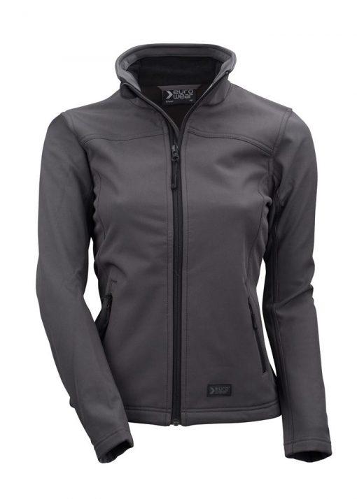 ženska soft shell jakna temno siva