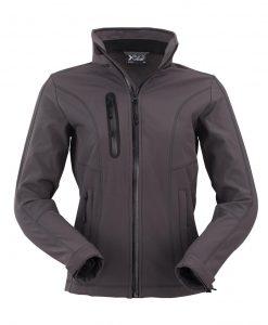 ženska soft shell jakna 602 temno siva
