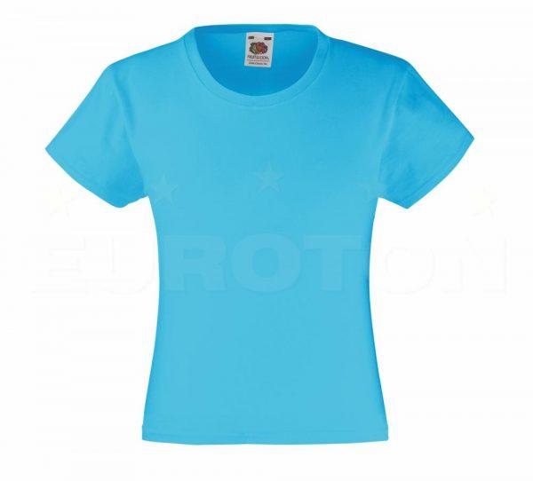 Dekliška value weight t-majica azurno modra