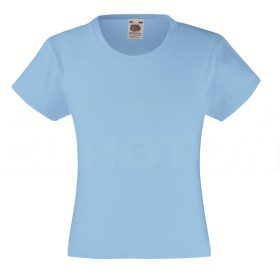 Dekliška value weight t-majica nebesno modra