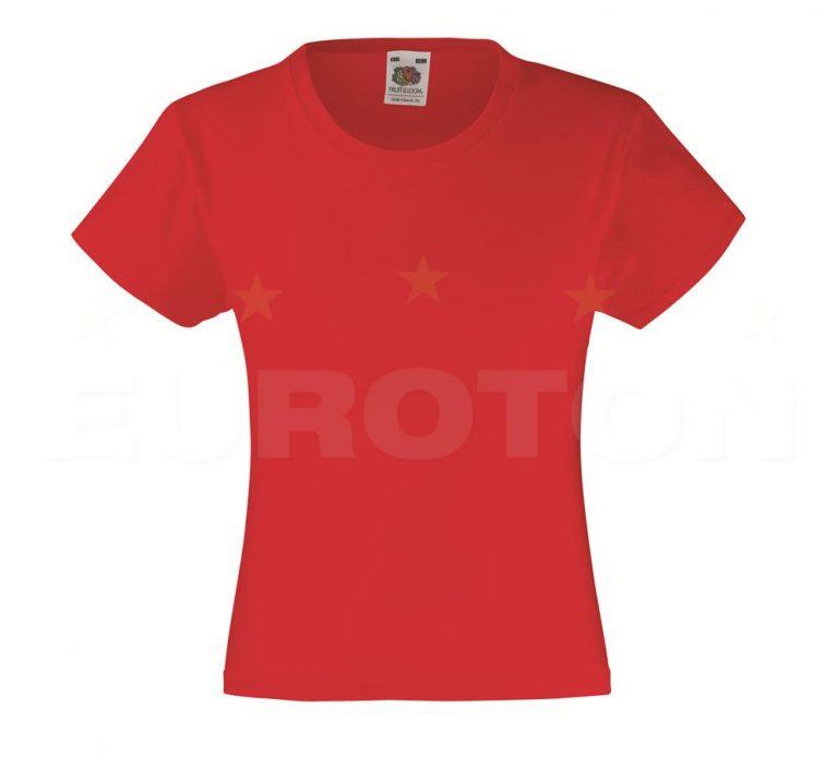 Dekliška value weight t-majica rdeča