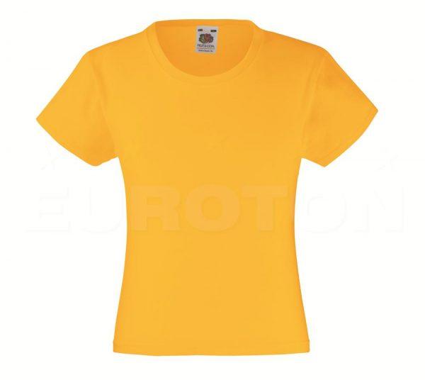 Dekliška value weight t-majica sončnična
