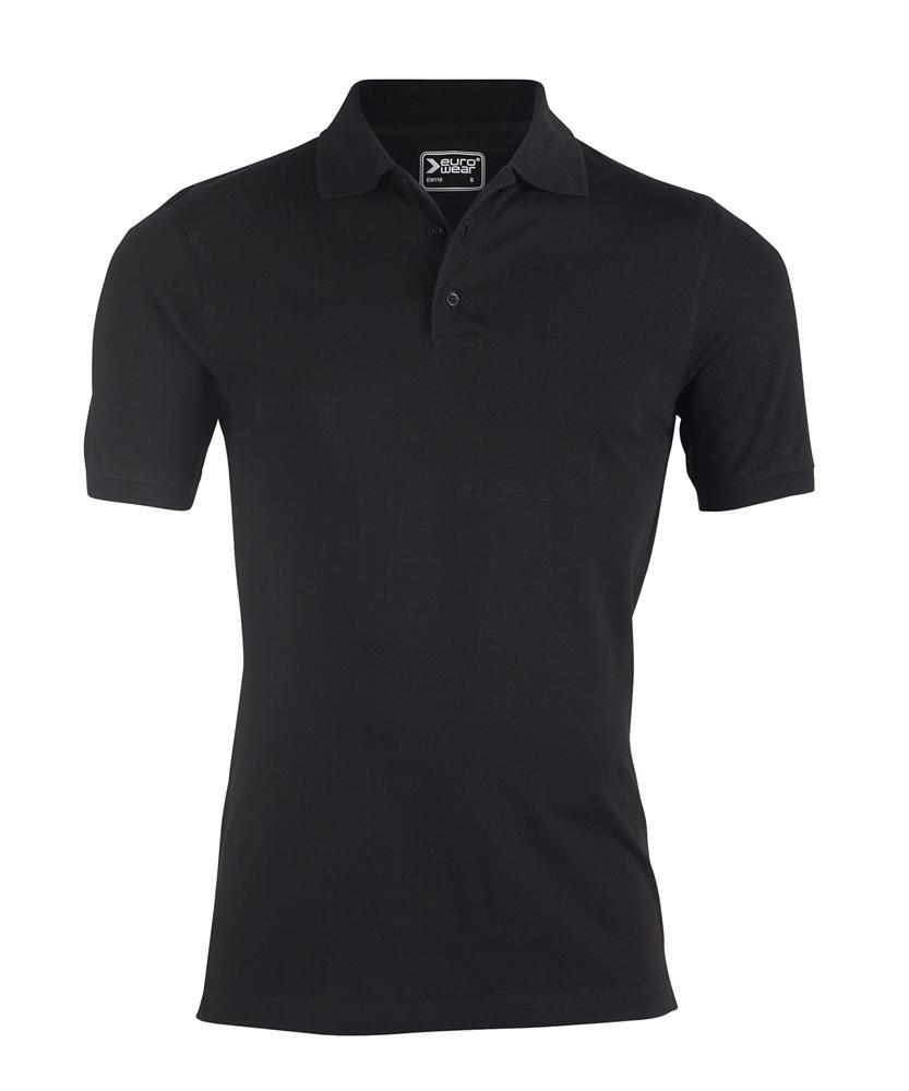 moška polo majica črna