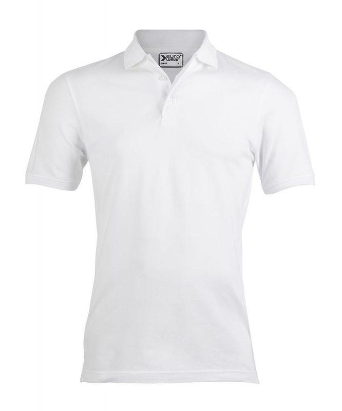 moška polo majica bela
