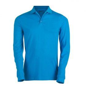 moška polo majica dolg rokav modra