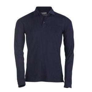 moška polo majica dolg rokav mornarsko modra