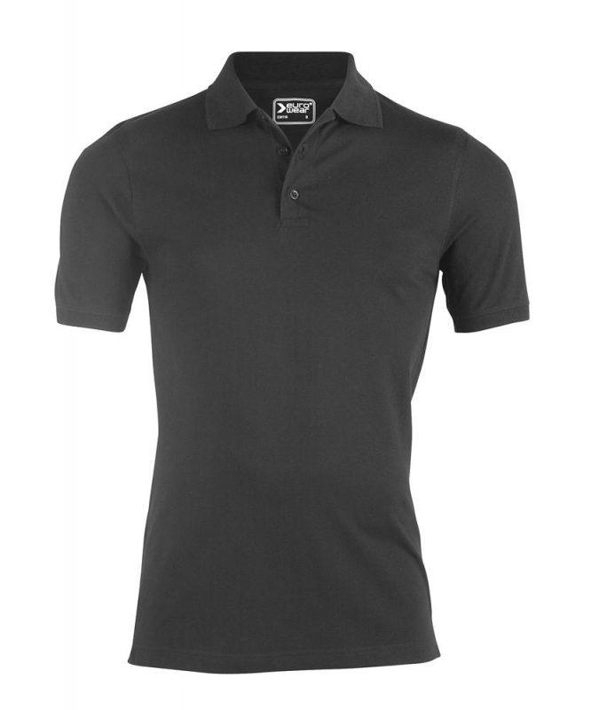 moška polo majica temno siva