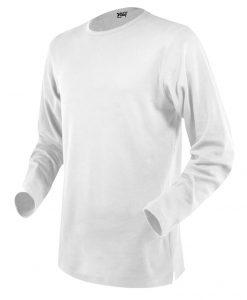 moška t majica dolg rokav bela
