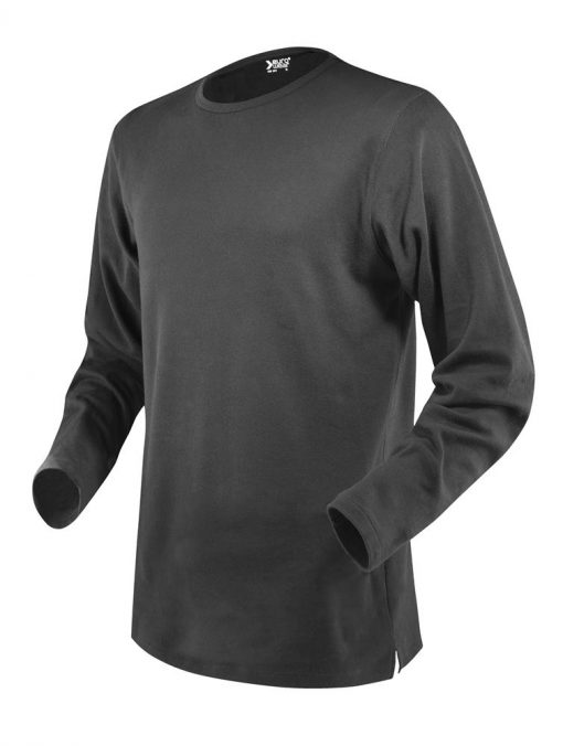moška t majica dolg rokav temno siva