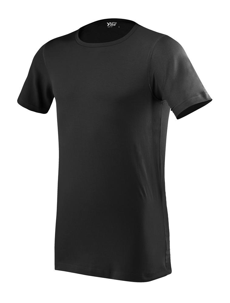 moška oprijeta t majica kratek rokav črna