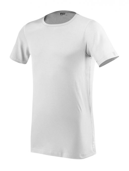 moška oprijeta t majica kratek rokav bela
