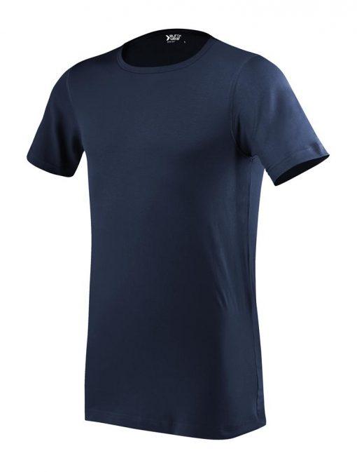 moška oprijeta t majica kratek rokav mornarsko modra