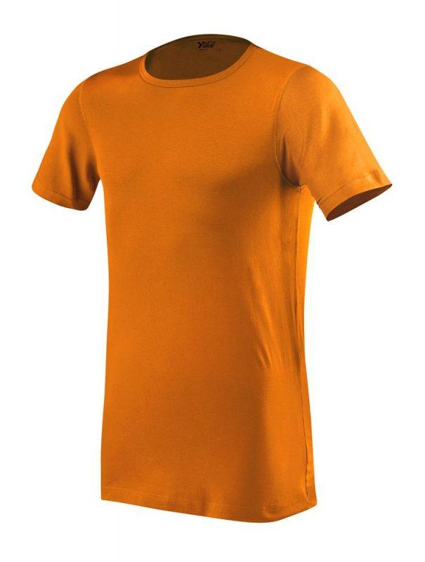 moška oprijeta t majica kratek rokav oranžna