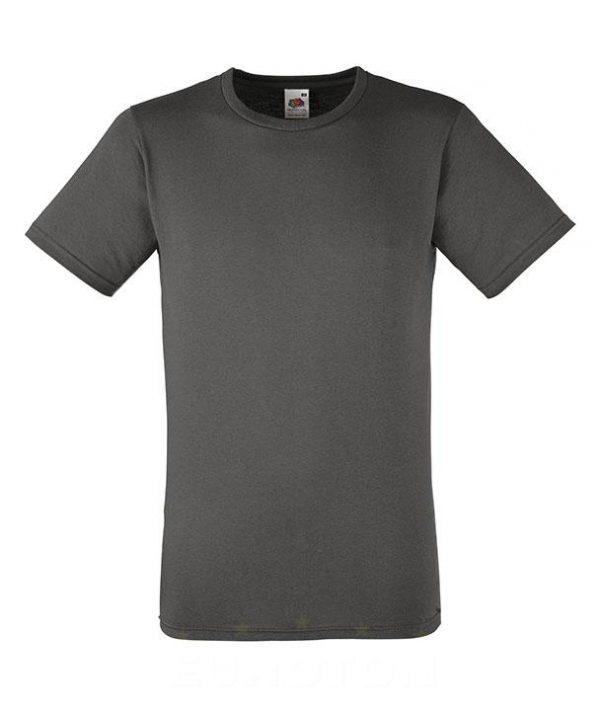 moška oprijeta value weight majica grafitna