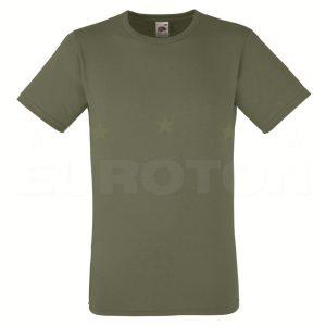 moška oprijeta value weight majica olivno zelena