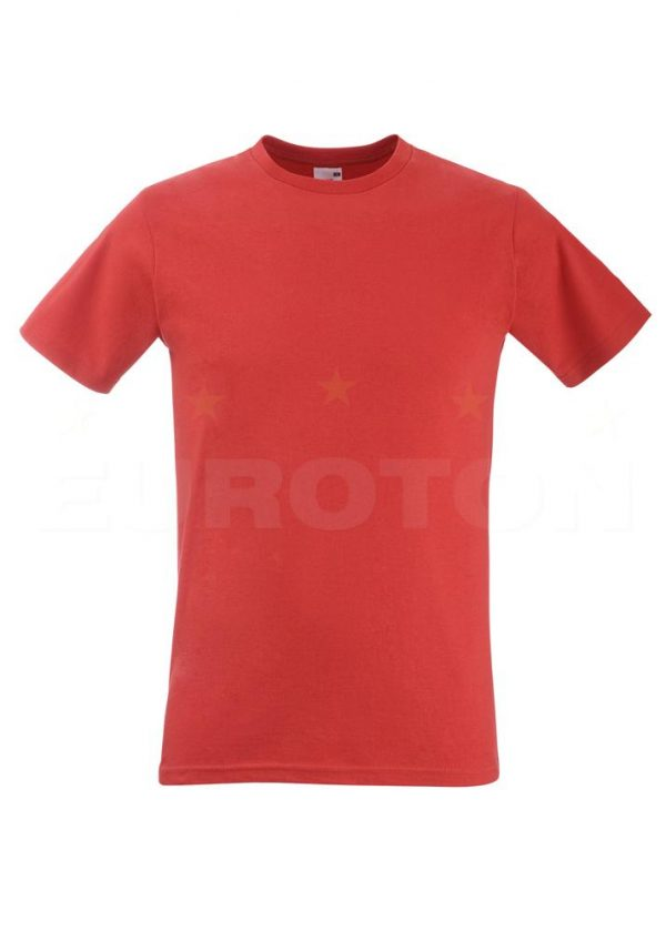 moška oprijeta value weight majica rdeča