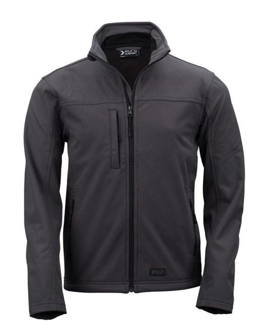 moška softshell jakna temno siva