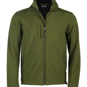 moška softshell jakna temno zelena