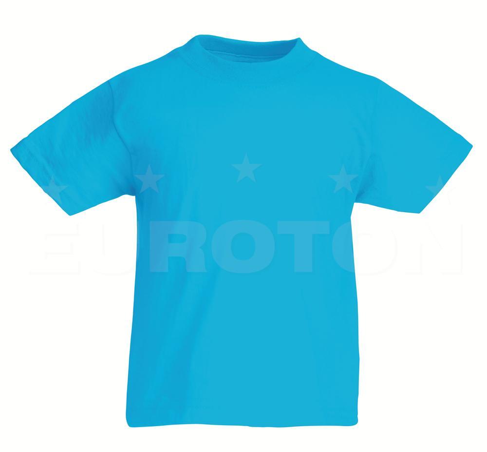 Otroska value weight t-majica azurno modra
