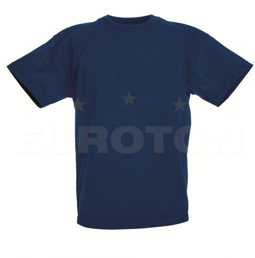 Otroska value weight t-majica mornarsko modra