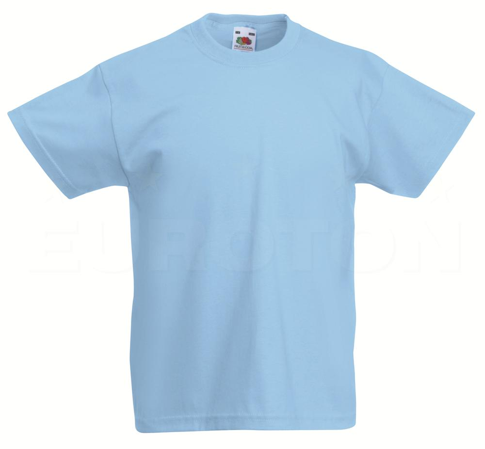 Otroska value weight t-majica nebesno modra