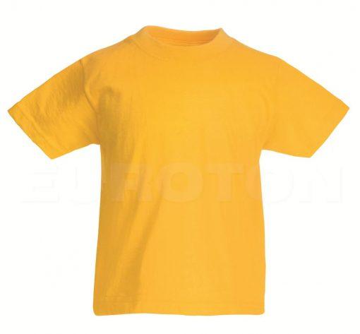 Otroska value weight t-majica sončnična