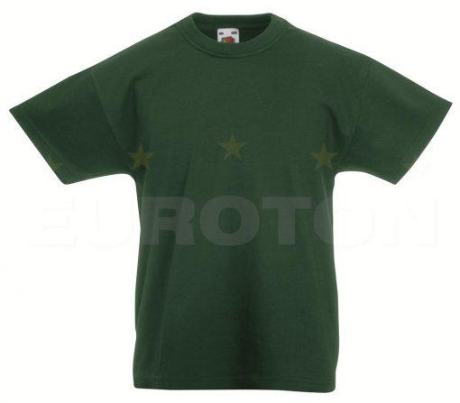 Otroska value weight t-majica stekleno zelena