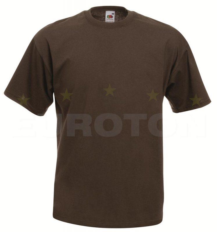 value weight t-majica kratek rokav čokoladna