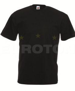 value weight t-majica kratek rokav črna