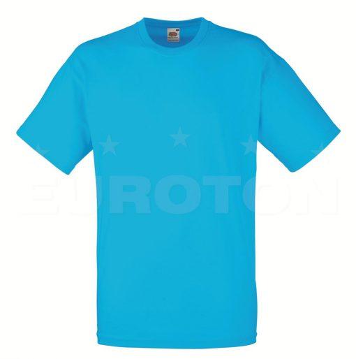 value weight t-majica kratek rokav azurno modra