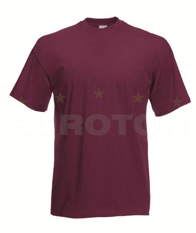 value weight t-majica kratek rokav bordo
