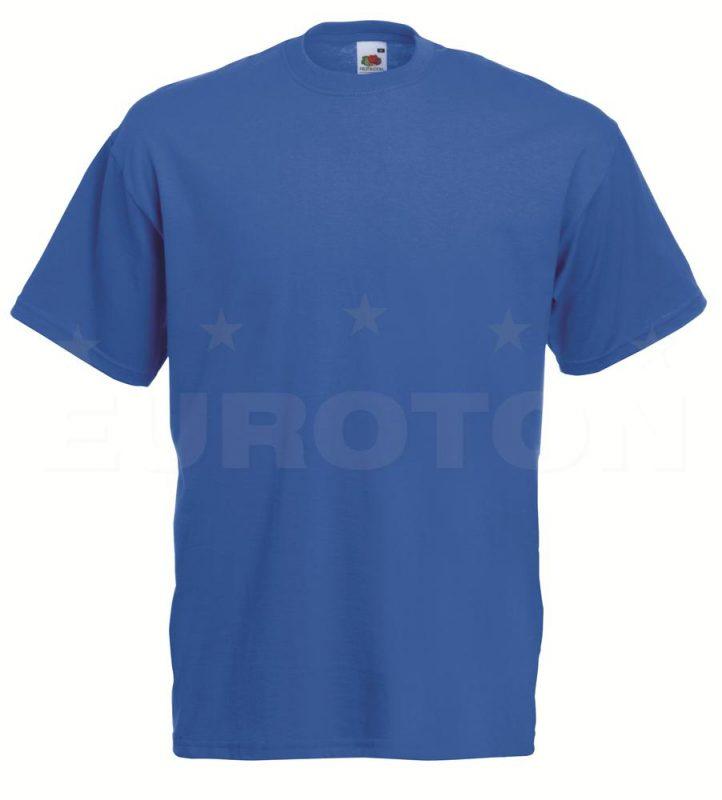 value weight t-majica kratek rokav modra