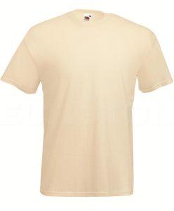 value weight t-majica kratek rokav natur